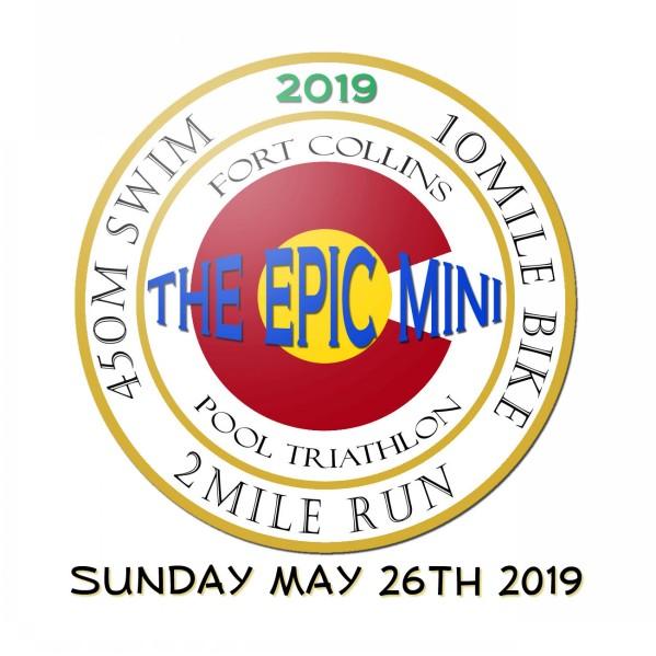 Fort Collins CO Epic Mini Pool Triathlon Swim Bike Run 2019