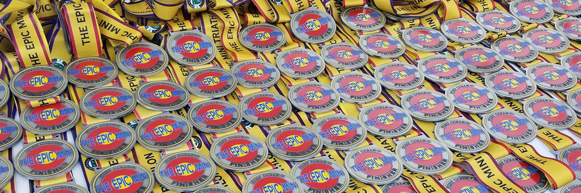 The Epic Mini Triathlon 2019 Finisher Medals